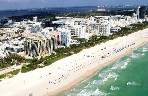 South Beach Aerial Collins Ave Beach